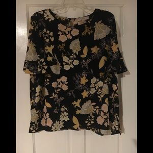 Loft XL flutter sleeve blouse